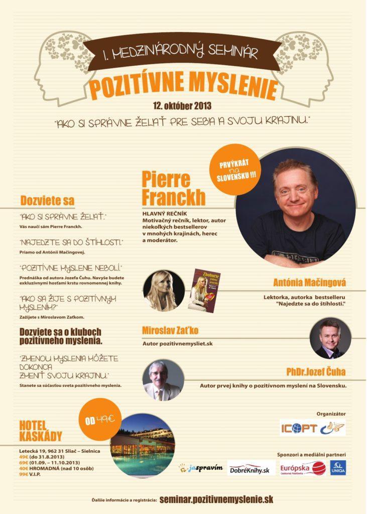 1.medzinárodný seminár o pozitívnom myslení