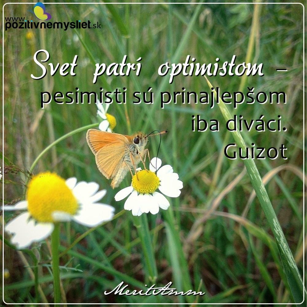 Citát 341 o optimizme