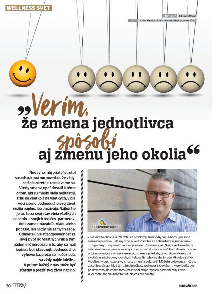 Rozhovor s Miroslav Zaťko pre FIT ŠTÝL