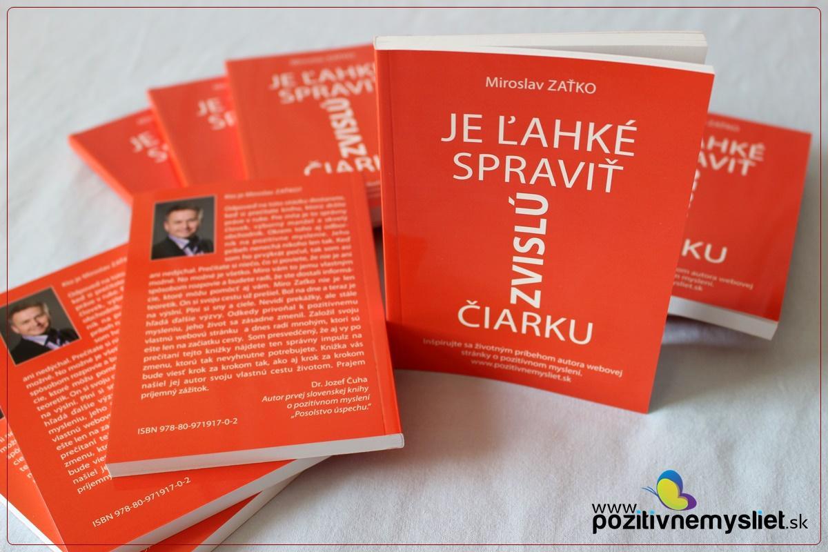 Kniha. Je ľahké spraviť zvislú čiarku. Miroslav Zaťko. Obálka knihy.
