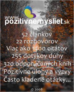 Info o stránke pozitivnemysliet.sk k 19.4.2021 - Štatistika